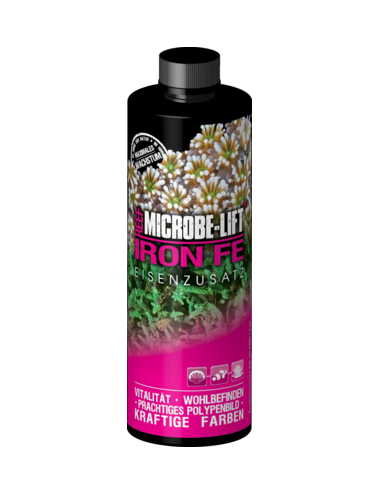 MICROBE-LIFT - Iron Fe - 236ml - Fer pour aquarium marin