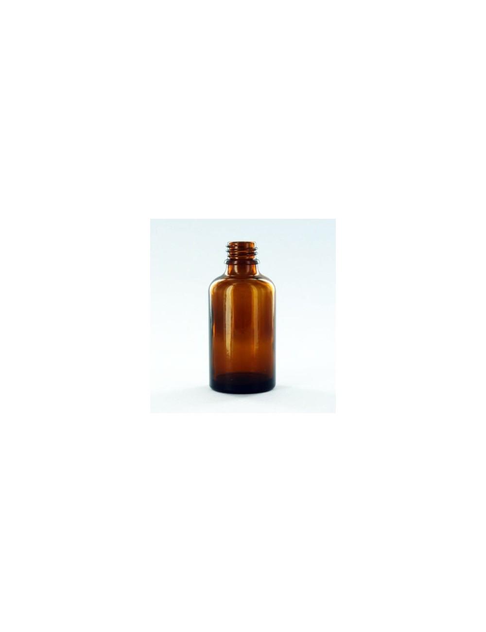 Bouteille verre de 50ml ambré + bouchon pipette
