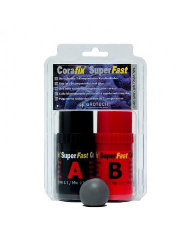 GROTECH - SuperFast Grise - 240g - Colle epoxy pour le bouturage des coraux