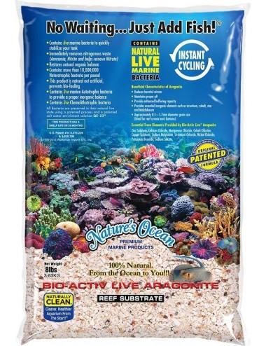 NATURE'S OCEAN - Aragonite Live Reef Substrate - 3.63kg - 2,0 - 4,0mm - Sable vivant pour aquarium