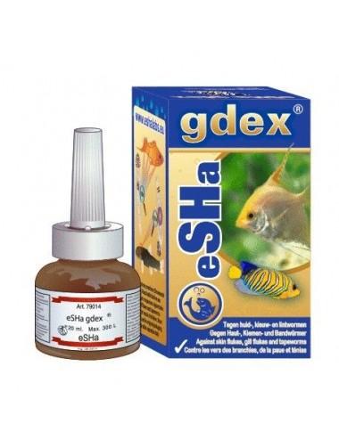 ESHA - Gdex - 20 ml - Traitement pour des maladies de la peau, des branchies et du ténia