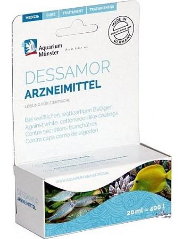 Aquarium Munster - Dessamor - 20ml - Traitement Anti fongique pour poissons