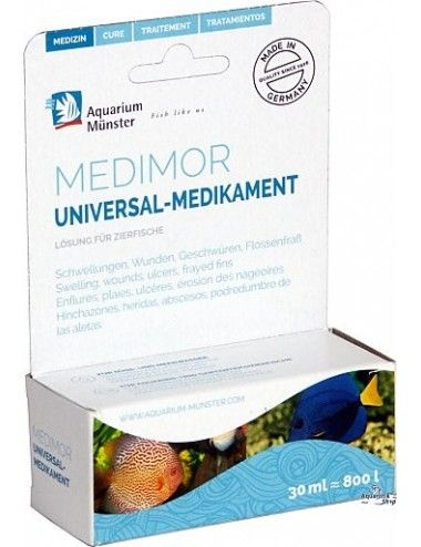 Aquarium Munster - Medimor - 100ml - Contre la plupart des infections des poissons