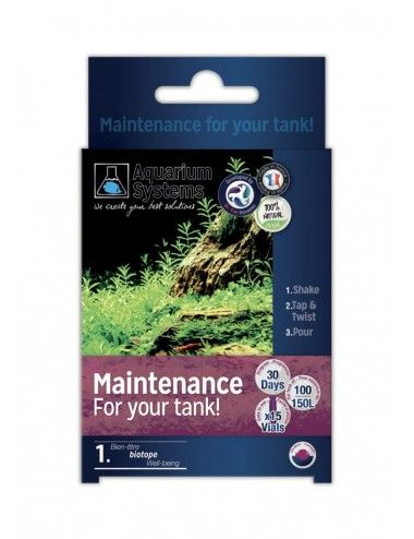 AQUARIUM SYSTEMS - Maintenance For Your Tank Fresh - Bactéries de démarrage pour aquarium