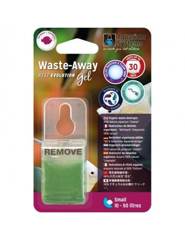 AQUARIUM SYSTEMS - Waste-Away Gel Eau douce Small - Bactéries en gel