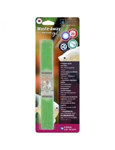 AQUARIUM SYSTEMS - Waste-Away Gel Eau douce Medium - Bactéries en gel (x2)