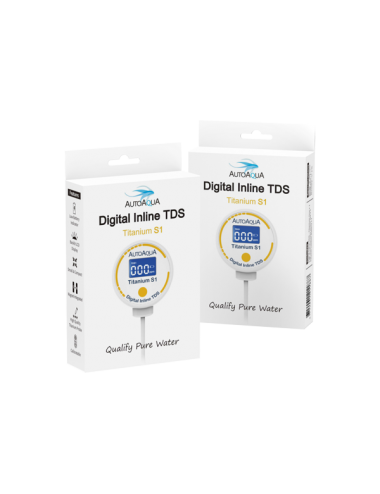 AUTO AQUA - Digital Inline TDS Titanium S1 - TDS mètre pour osmoseur