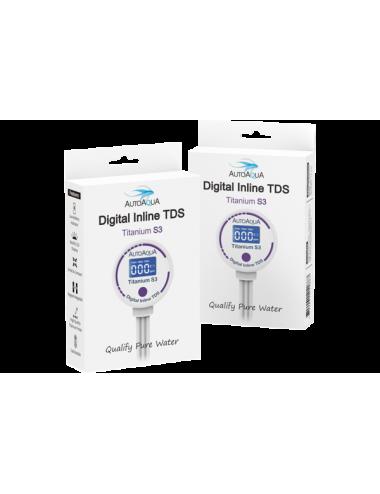 AUTO AQUA - Digital Inline TDS Titanium S3 - TDS mètre pour osmoseur