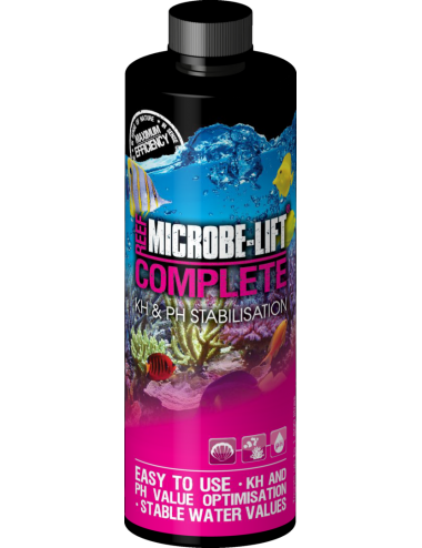 MICROBE-LIFT - Reef Complete 236ml - Buffer kH et pH pour aquarium marin