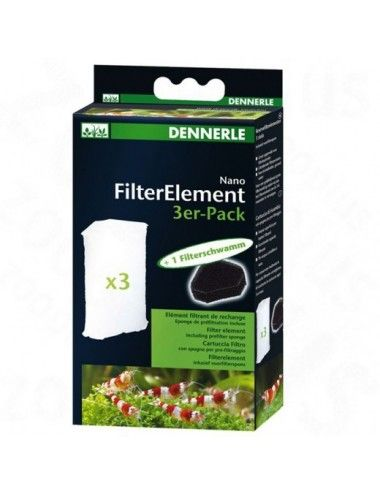 DENNERLE - Nano Clean - 3 cartouches pour filtre d'angle