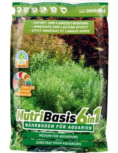 DENNERLE - NutriBasis 6 en 1 - 2,4 kg - Substrat nutritif pour aquarium