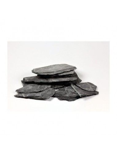 AQUADECO - Slate Black - Lot de 4 à 6 roches - 1.4 - 1.6 kg