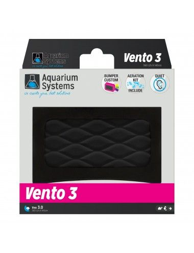 AQUARIUM SYSTEMS - Vento 3 - 2x 180 l/h - Pompe à air pour aquarium