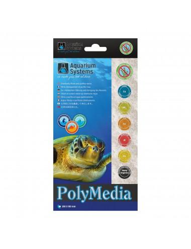 AQUARIUM SYSTEMS - Poly Média - 20x10cm - Absorbant pour aquarium