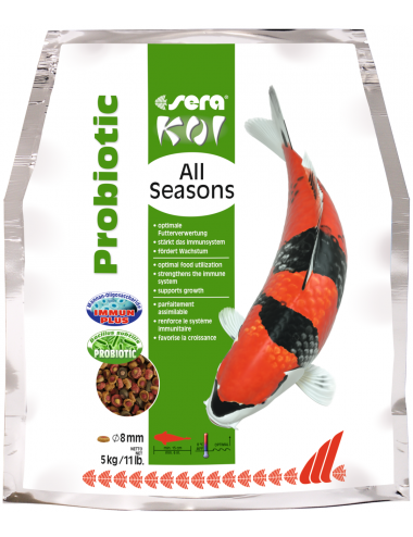 SERA - Koi All Seasons Probiotic - 5kg - Nourriture Premium pour Koi