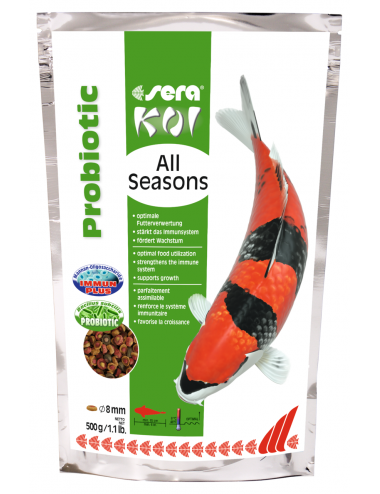 SERA - Koi All Seasons Probiotic - 500g - Nourriture Premium pour Koi
