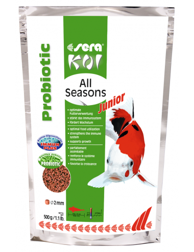 SERA - Koi Junior All Seasons Probiotic - 500g - Nourriture Premium pour Koi