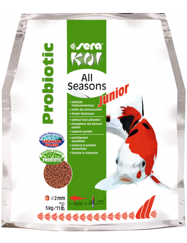 SERA - Koi Junior All Seasons Probiotic - 5kg - Nourriture Premium pour Koi