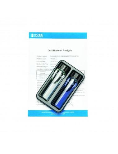 Hanna Instruments - Solutions étalons alcalinité eau de mer à 0 et 100 mg/L - 2x 10ml