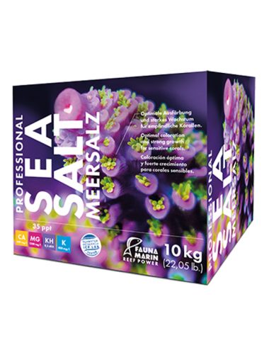 FAUNA MARIN - Professional Sea Salz - 10 kg Carton - Sel de mer pour aquarium récifal