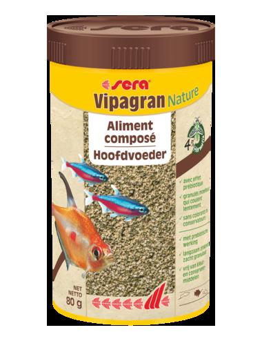 SERA - Vipagran Nature - 80g - Aliment composé pour poissons d'ornements