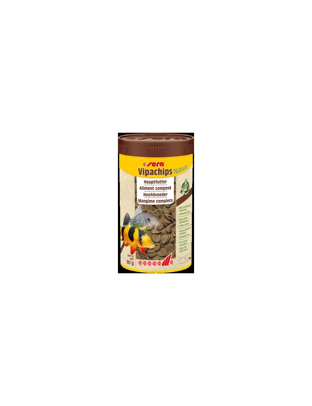 SERA - Vipachips Nature - 90g - Aliment composé pour poissons d'ornements