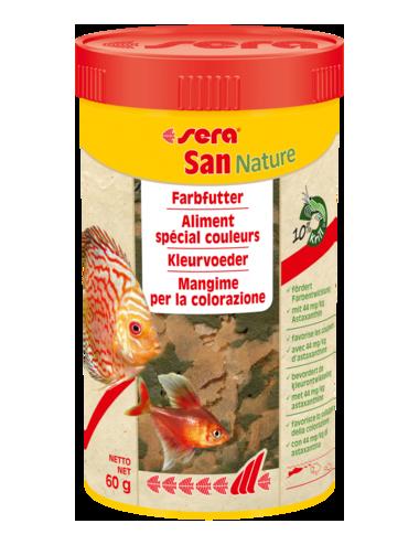 SERA - San Nature - 60g - Aliment spécial couleurs pour poissons d'ornements
