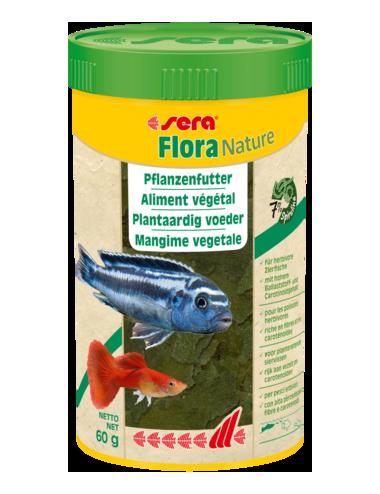 SERA - Flora Nature - 60g - Aliment végétal pour poissons d'ornements