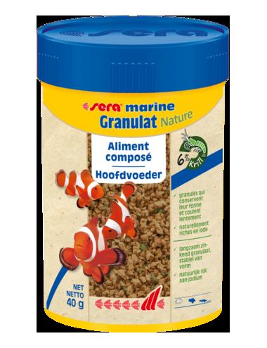 SERA - Marin Granulat Nature - 40g - Aliment composé pour poissons d'eau de mer