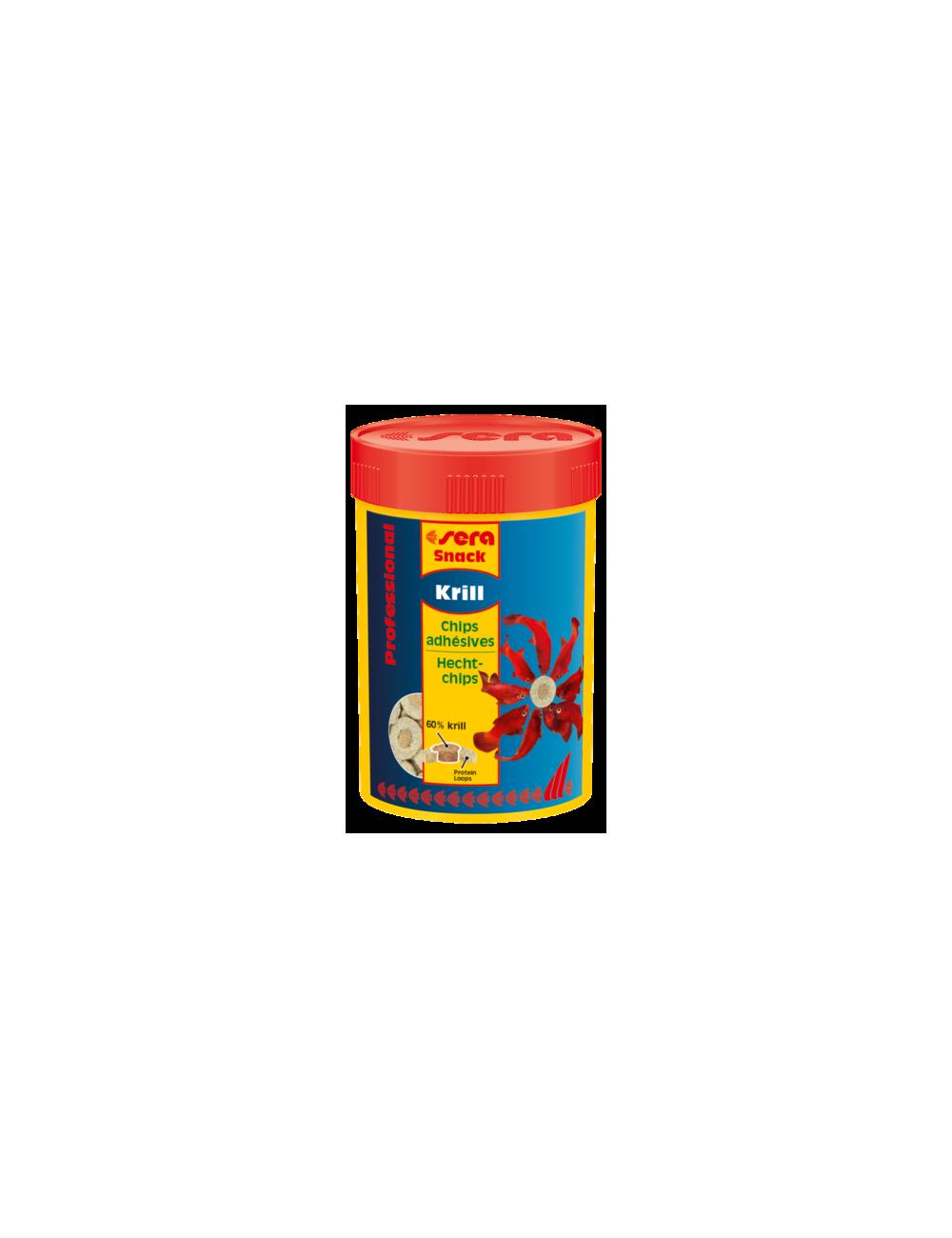 SERA - Krill Snack Professional - 36g - Chips adhésives pour poissons d'eau de mer et d'eau douce