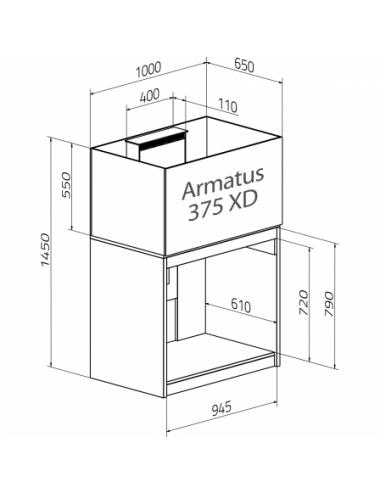 AQUA MEDIC - Armatus 375 XD - Blanc - Aquarium d'eau de mer