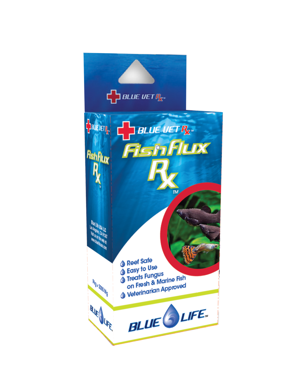 BLUE LIFE USA - Fish Flux Rx - 4gr - Médicament antifongique pour poissons d'ornement