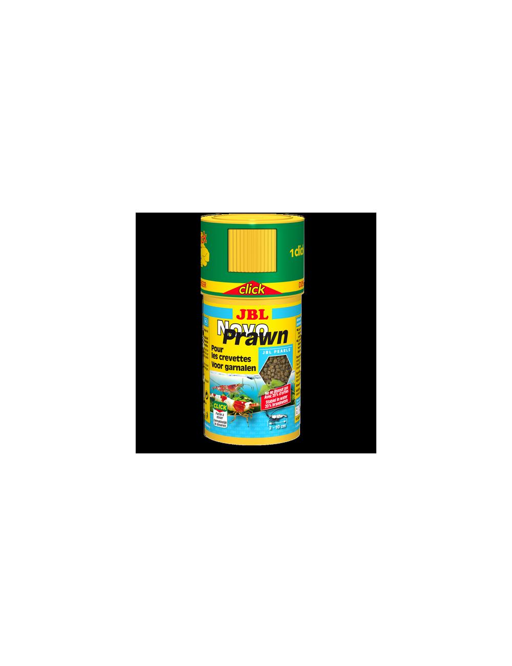 JBL - NovoPrawn CLICK - 100 ml -Aliment de base en granulés pour crevettes