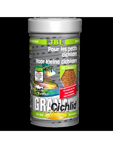 JBL - Grana Cichlid - 250 ml - Aliment de base Premium en granulés pour cichlidés prédateurs