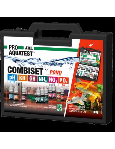 JBL - ProAquaTest Combiset Pond - Coffret de tests pour analyses d'eau en bac à koïs et bassin de jardin