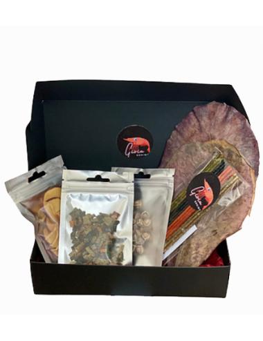 Gioia Shrimp - Coffret cadeau - 1 lot de Lollies, granulés mixtes, chips - Pour crevettes d'aquarium