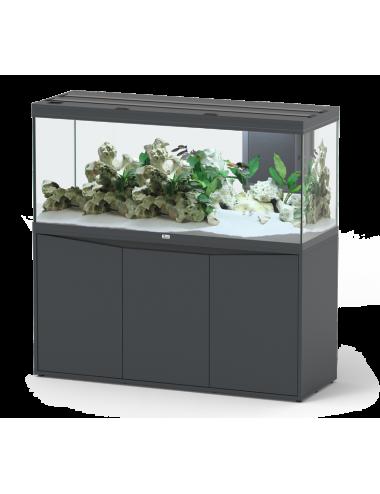 Aquatlantis - Volga 450 - Gris anthracite mate - 542 L - Aquarium eau douce tout équipé