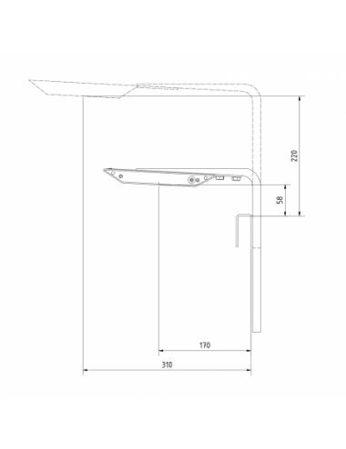 AQUA MEDIC - Aquarius plus holder BW - Support mural arrière pour les rampes LED « Aquarius plus » uniquement