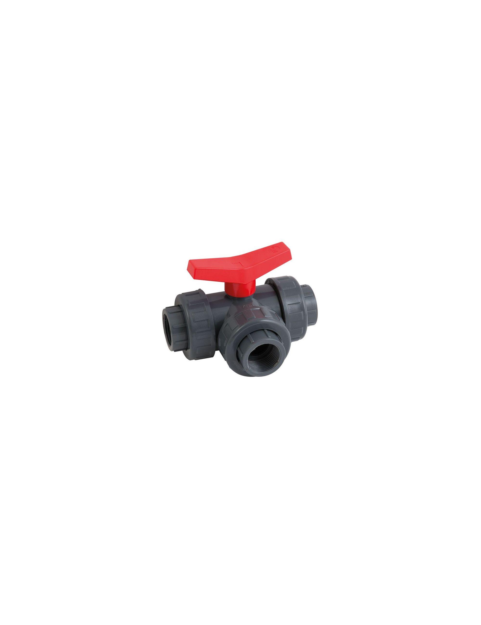AQUA MEDIC - Robinet trois voies - Diamètre 16 mm