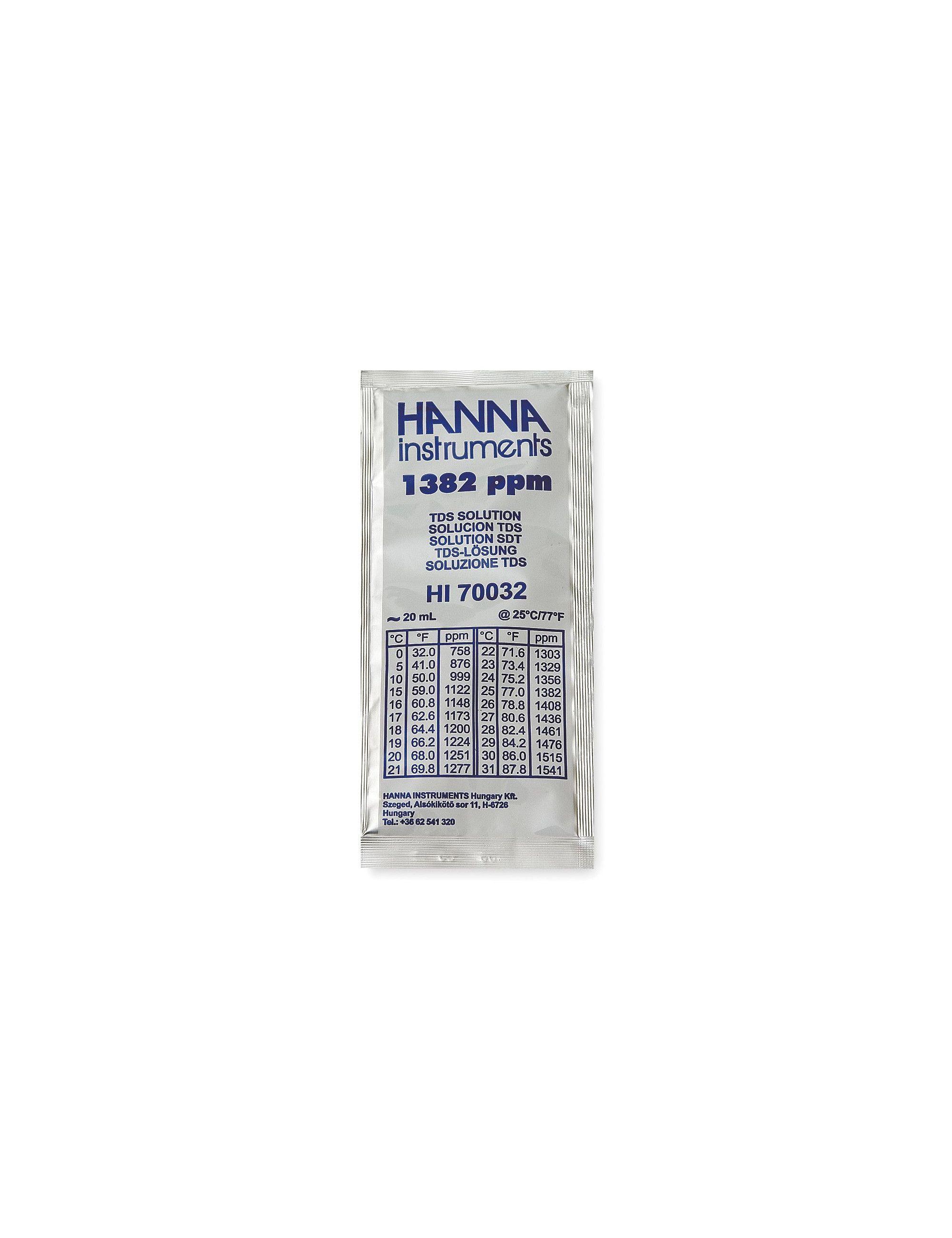 Hanna Instruments - Solution d'étalonnage TDS à 1382 mg/L - 20 mL