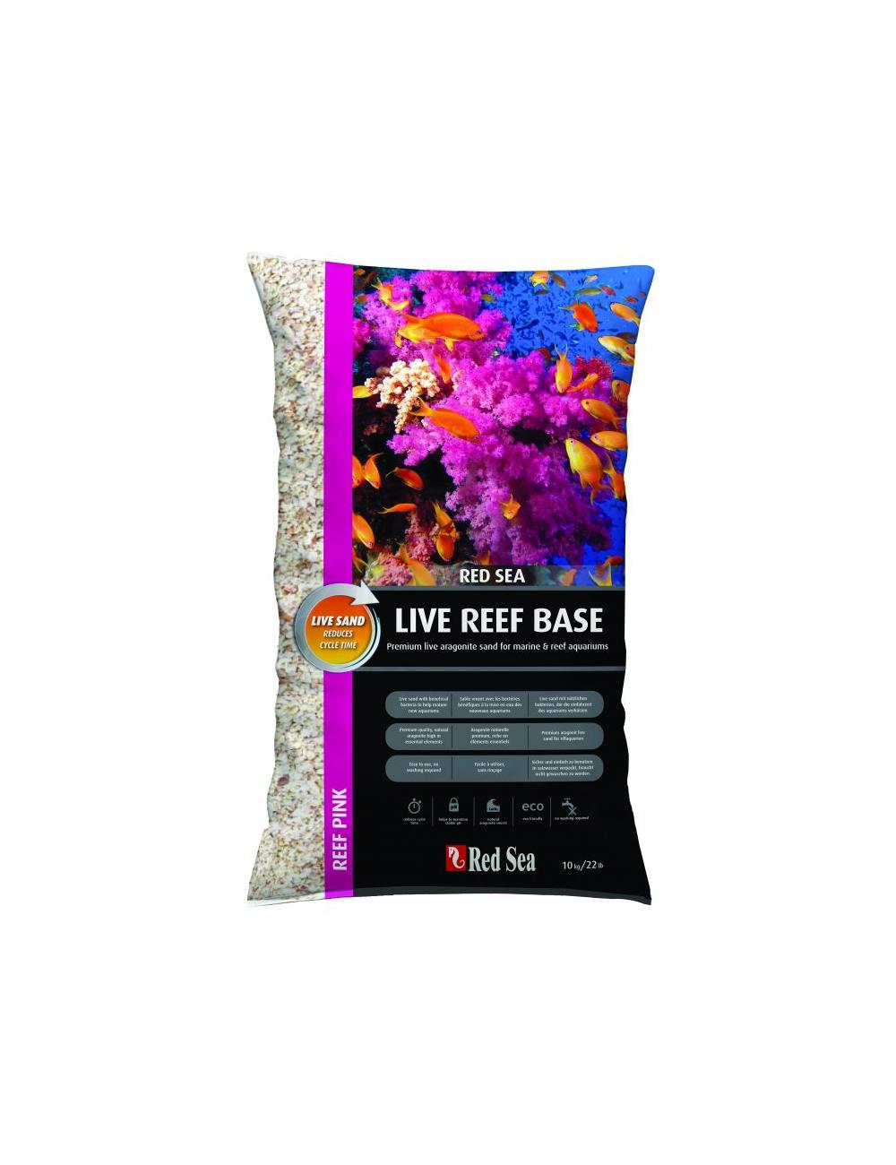 RED SEA -  Live Reef Base - Ocean White - Sable vivant - 10 kilos
