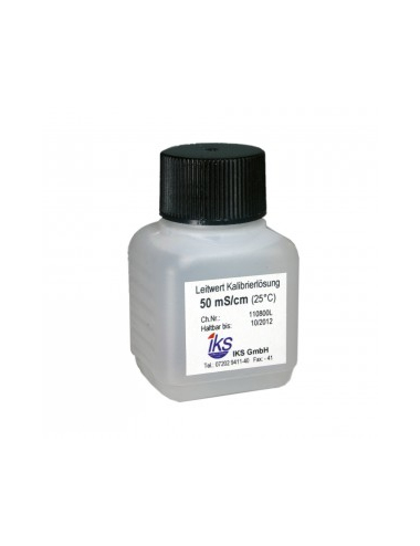 IKS - Solution de calibrage conductimètre LF 50 mS - 30ml