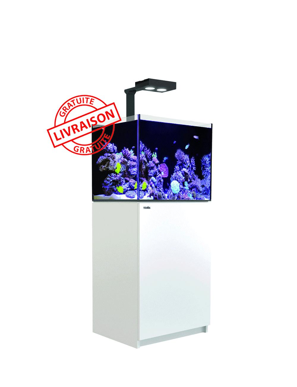 RED SEA - Aquarium Max® E-170 + LED AI Hydra 26™ HD - Meuble blanc  + Décantation - 170 litres