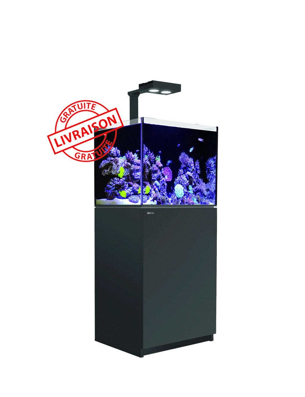 RED SEA - Aquarium Max® E-170 + LED AI Hydra 26™ HD - Meuble Noir + Décantation - 170 litres