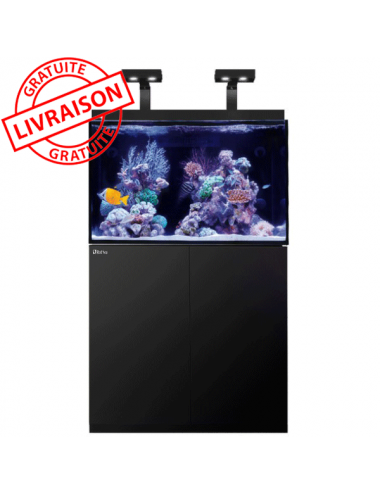 RED SEA - Aquarium Max® E-260 + LED 2x AI Hydra 26™ HD - Meuble Noir + Décantation - 260 litresRED SEA - Aquarium Max® E-260 + L