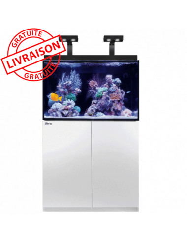 RED SEA - Aquarium Max® E-260 + LED 2x AI Hydra 26™ HD - Meuble blanc + Décantation - 260 litres