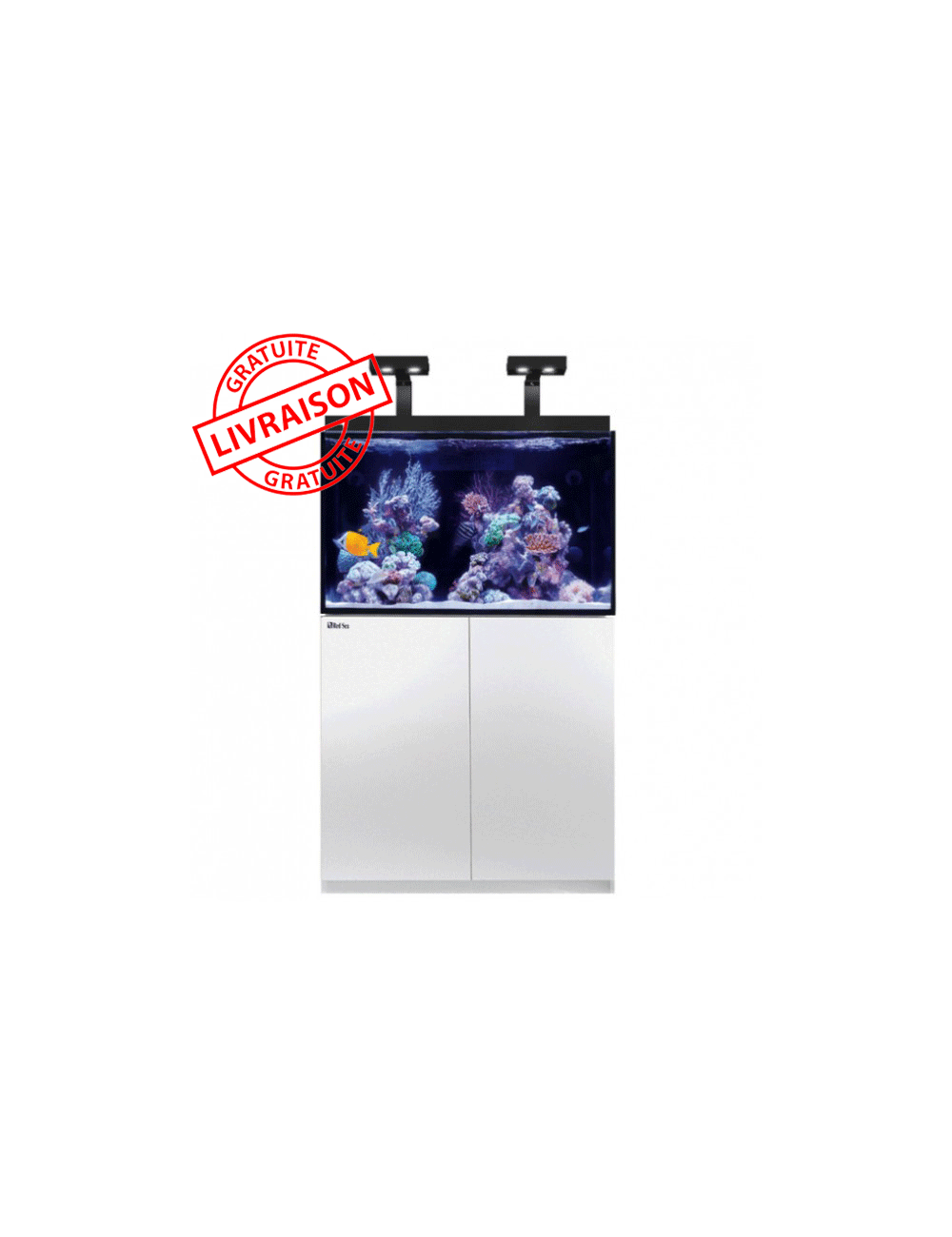 RED SEA - Aquarium Max® E-260 + LED 2x AI Hydra 26™ HD - Meuble blanc + Décantation - 260 litres