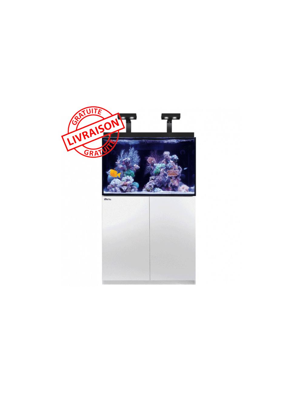 RED SEA - Aquarium Max® E-260 + LED 2x AI Hydra 26™ HD - Meuble blanc - 260 litres
