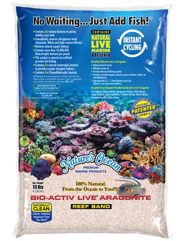 NATURE'S OCEAN - Samoa Pink Aragonite Live - Sable vivant pour aquarium - 9.07kg