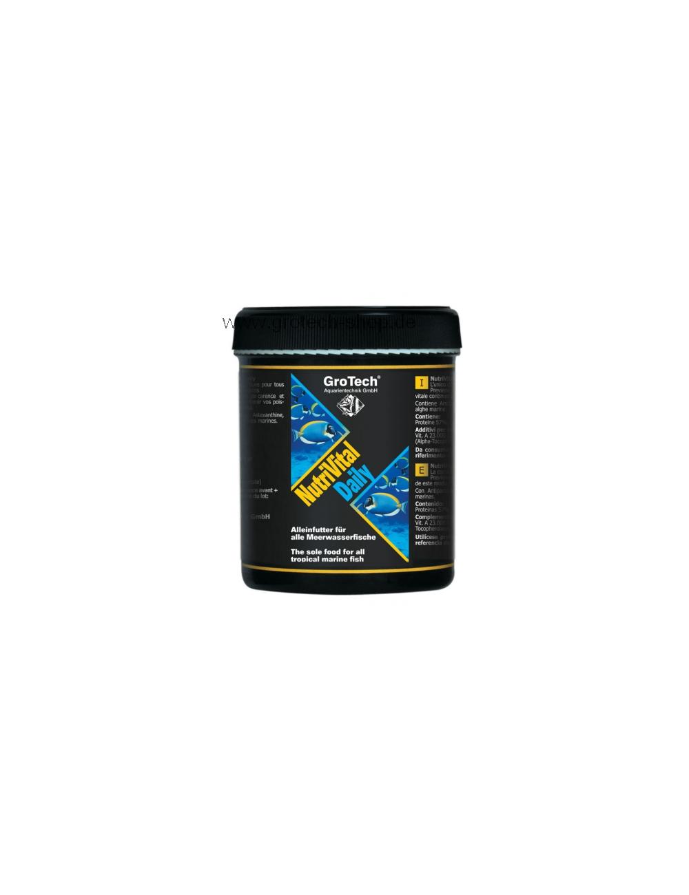 GROTECH - NutriVital Daily 0,6-0,9mm 285ml - Nourriture pour poissons